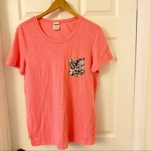 Victoria's Secret PINK | One Tropical Pocket Tee L